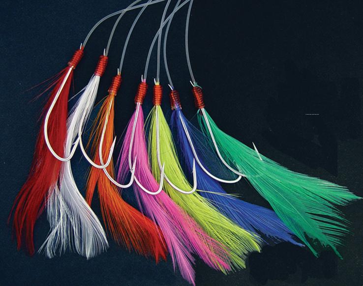 Крючки, оснащенные пучками синтетических волокон от фирмы Sasame