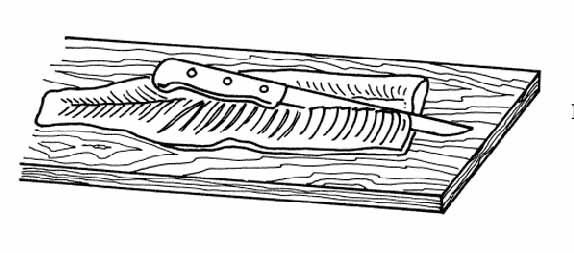 Продолжение рис. №8. г — разделка на порционные куски